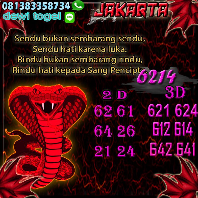PREDIKSI JITU JAKARTA (JKT) 21 AGUSTUS 2020