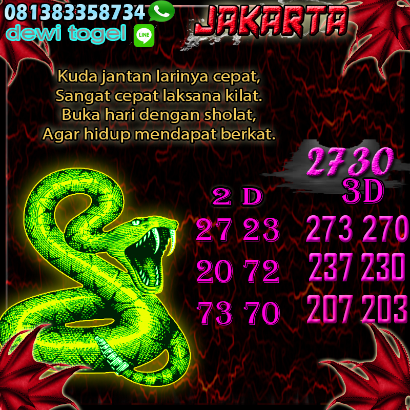 PREDIKSI JITU JAKARTA (JKT) 22 AGUSTUS 2020