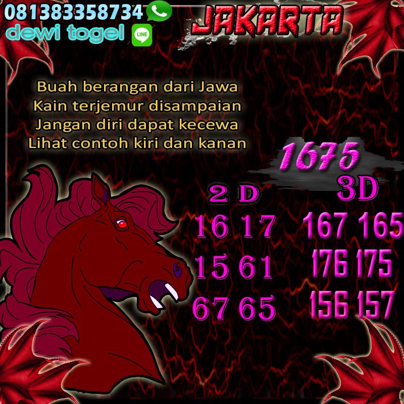PREDIKSI JITU JAKARTA (JKT) 26 AGUSTUS 2020