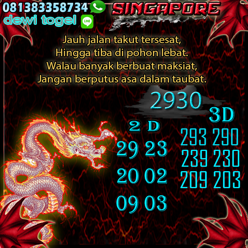 PREDIKSI JITU SINGAPORE (SGP) 22 AGUSTUS 2020