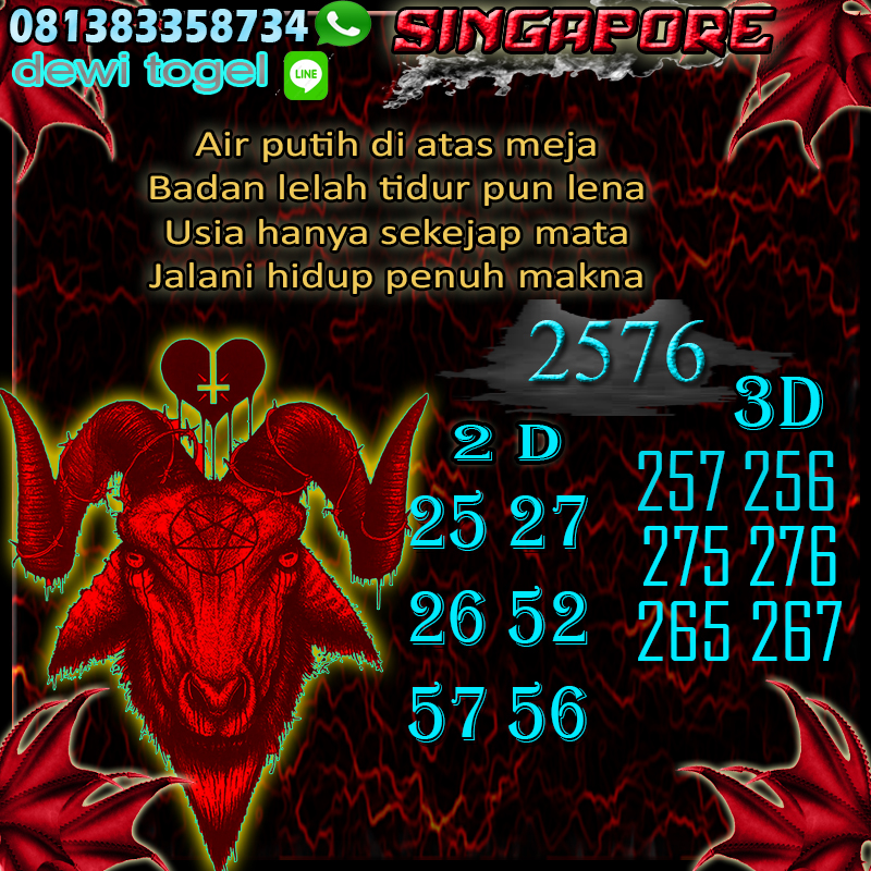PREDIKSI JITU SINGAPORE (SGP) 27 AGUSTUS 2020
