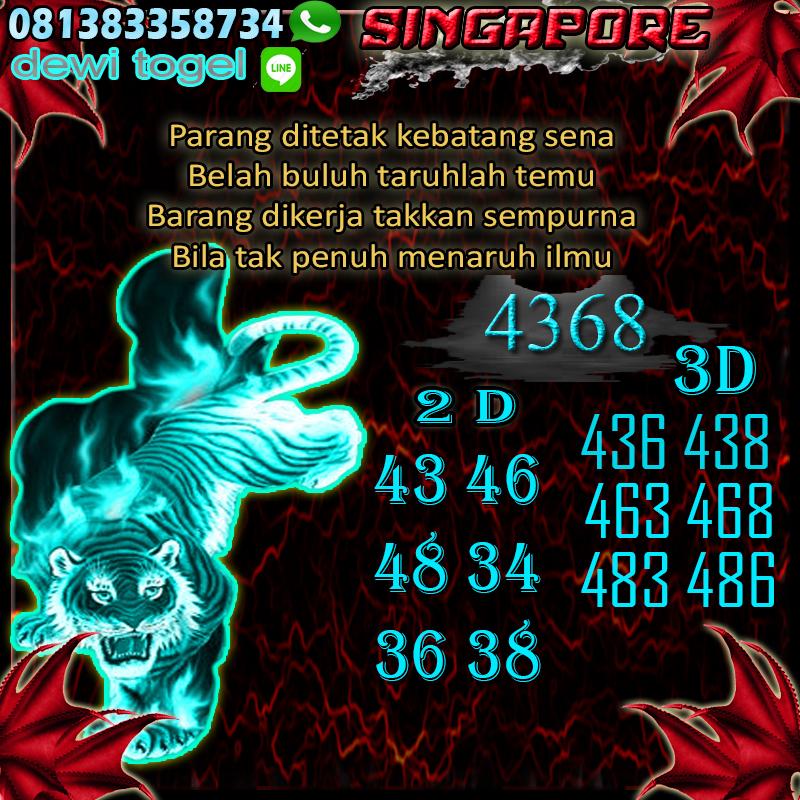 PREDIKSI JITU SINGAPORE (SGP) 30 AGUSTUS 2020